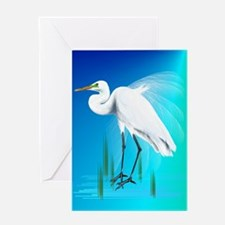 LargePosterGreat Egret Greeting Card