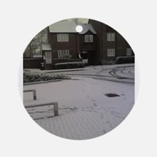 Morning Snow Ornament (Round)