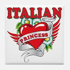 italian princess a Tile Coaster