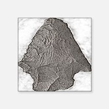 """Projectile Point Square Sticker 3"""" x 3"""""""