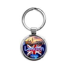LONDON Round Keychain