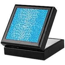 iPadLeopardBlue Keepsake Box