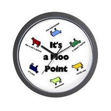 It's a Moo Point Wall Clock