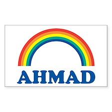 AHMAD (rainbow) Rectangle Decal