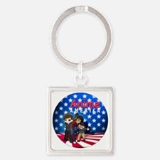 AAButton Square Keychain