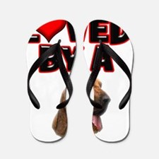 Loved by a Bloodhound Flip Flops