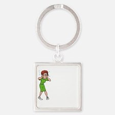 Mothers of Teens shirt white lette Square Keychain