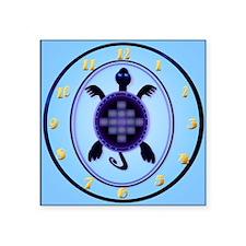 "wallclock Courageous Turtle Square Sticker 3"" x 3"""
