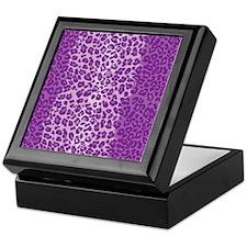 iPadLeopardPurple Keepsake Box