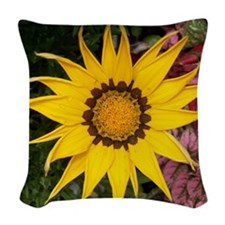 Gazania_0 Woven Throw Pillow