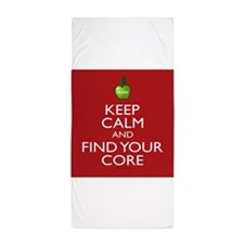 Keep Calm and Find Your Core Pilates Beach Towel