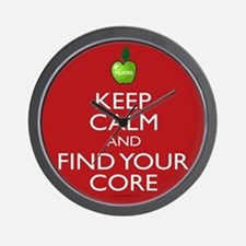 Keep Calm and Find Your Core Pilates Wall Clock