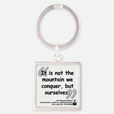 Hillary Conquer Quote Square Keychain