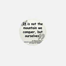 Hillary Conquer Quote Mini Button