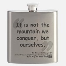 Hillary Conquer Quote Flask