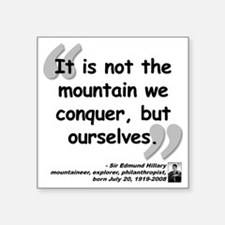 "Hillary Conquer Quote Square Sticker 3"" x 3"""