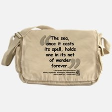 Cousteau Sea Quote Messenger Bag