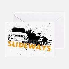 BMW Getting Slideways Greeting Card