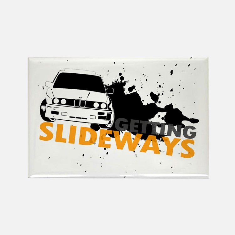 BMW Getting Slideways Rectangle Magnet