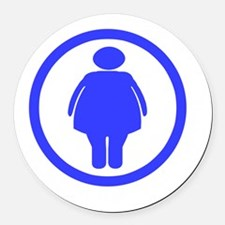 Dont worry _Fat chick_drk Round Car Magnet