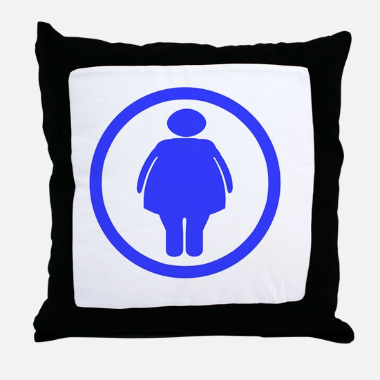 Dont worry _Fat chick_drk Throw Pillow