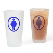 Dont worry _Fat chick_drk Drinking Glass