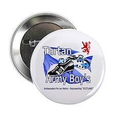 "tartan army boys Scotland lion crest 2.25"" Button"