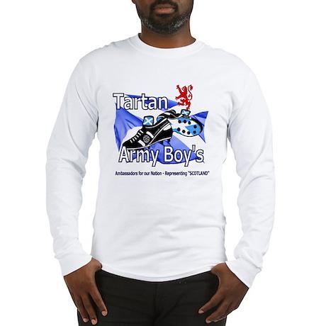 tartan army boys representing Long Sleeve T-Shirt