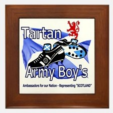 tartan army boys representing Scotland Framed Tile