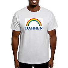 DARREN (rainbow) Ash Grey T-Shirt