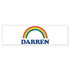DARREN (rainbow) Bumper Bumper Sticker