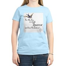 His Eye Is On The Sparrow Ash Grey T-Shirt