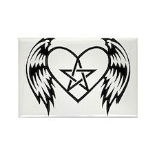 heart pentacle tattoo Rectangle Magnet
