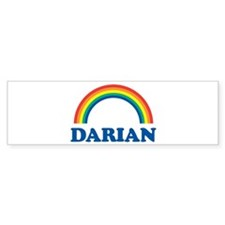 DARIAN (rainbow) Bumper Bumper Sticker