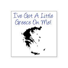 "Little Greece Baby Shirt Square Sticker 3"" x 3"""