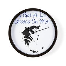 Little Greece Baby Shirt Wall Clock