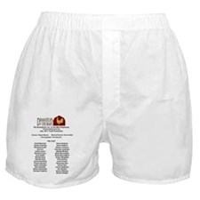 back of t-shirt (joseph) Boxer Shorts