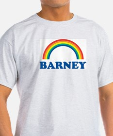 BARNEY (rainbow) Ash Grey T-Shirt