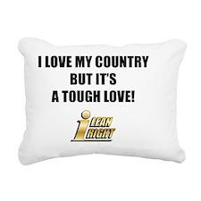I Lean Right 10 Rectangular Canvas Pillow