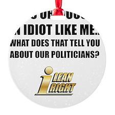 I Lean Right 02 Ornament