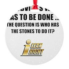 I Lean Right 12 Ornament