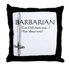 Barbarian Black Throw Pillow