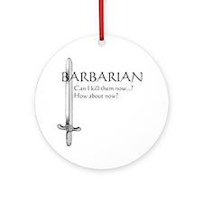 Barbarian Black Round Ornament