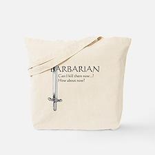 Barbarian Black Tote Bag
