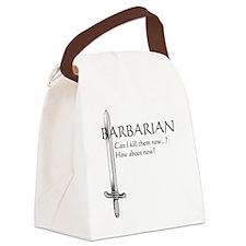 Barbarian Black Canvas Lunch Bag