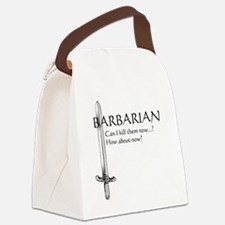 Barbarian Black Canvas Lunch Bag