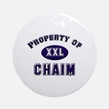 Property of chaim Ornament (Round)