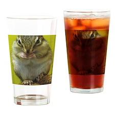 chipmunk 9x12 Drinking Glass