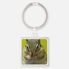 chipmunk squ Square Keychain