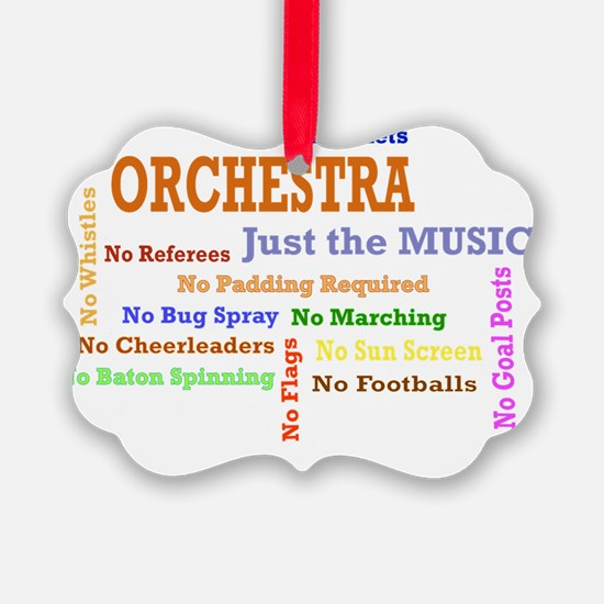 orch_just_the_music Picture Ornament